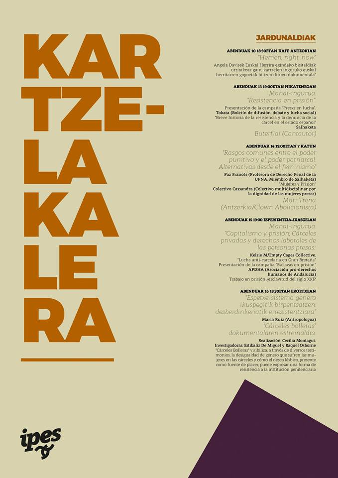 Resultado de imagen de Kartzela Kalera! Pote, Salhaketa.
